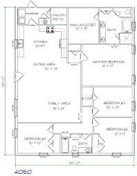 barndominium house plans. 4 bed, 2 bath \u2013 40\u0027x50\u2032 2000 sq. ft. barndominium house plans o
