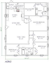 4 bed 2 bath 40 x50 2000 sq ft