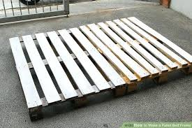 Make A Bed Frame How To Pallet 6 Steps With Pictures Hardware ...
