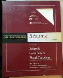 Southworth Resume Paper Details About Southworth Exceptional Resume Paper 100 Cotton 24 Lb Ivory 100 Count R14icf