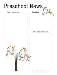october newsletter ideas printable preschool newsletter happywinner co