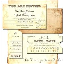 Train Ticket Invitation Template Free Printable Vintage ...