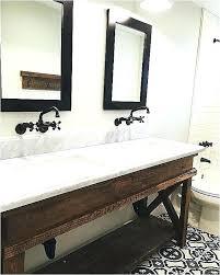 rustic vanity unit