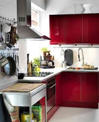 Red Kitchen Design Red Kitchen Cabinet In Simple Tiny Kitchen Design Dweefcom