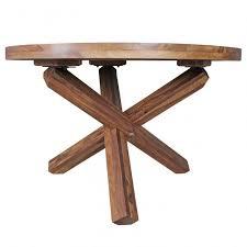 Design Esszimmertisch Rund ø 120 Cm X 75 Cm Sheesham Massiv Holz Lan