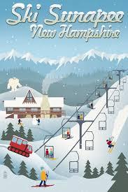 get ations suna new hshire retro ski resort 16x24 giclee gallery print wall decor