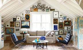 how to decorate slanted ceilings