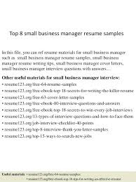 small business banker resume sample top 8 manager samples 1 in this file  you can ref
