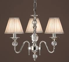 interiors 1900 polina 3 light chandelier polished nickel crystal lx124p3n