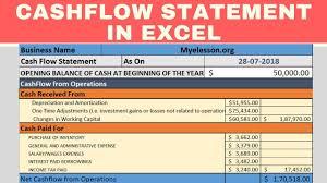 Cash Flow Calculation Excel Make Cash Flow Statement In Excel