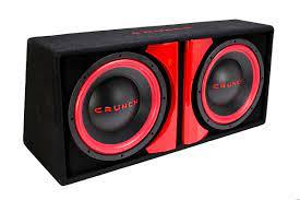 Crunch 1000 Watt Powered Dual 12 Inch Subwoofer Car Audio Bass System