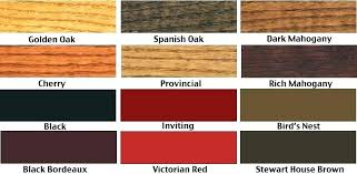 Old Masters Gel Stain Colors Color Chart Paint Flooring