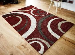 red cream and brown rugs