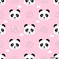 Animal Icon Panda Seamless Pattern Animal Icon Cartoon Vector Buy