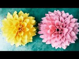 How To Make Paper Cones For Flower Petals How To Make Cone Flower With Easy Steps Youtube