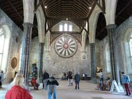 the great hall facing king arthur s round table