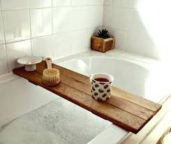 bath tub bathtub trays over the caddy with wine glass holder tray bamboo