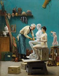 centuries of studio s john elderfield on in the studio  jean leon gerome le travail du marbre or l artiste sculptant tanagra