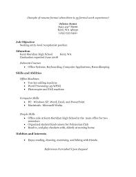 sample resume no experience com sample resume no experience for a resume sample of your resume 13