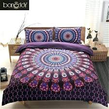 purple king bedding bohemian bed set bedding sets purple black color fabric cotton blend bedding set queen king size bohemian bed set