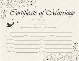 Wedding Certificate Template Custom Free Printable Marriage Certificate Template Marriage License