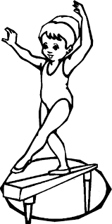 Small Picture Gymnastics coloring pages girl on balance beam ColoringStar