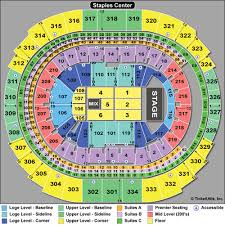 Unfolded Laker Seating Chart Staples Center Staples Seat