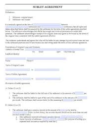 Sublease Agreement Samples Sublease Form Ohye Mcpgroup Co