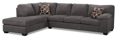 living room furniture morty 2 piece chenille left facing sofa bed sectional
