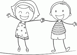 Boy And Girl Coloring Pages Coloring Pages For Kids
