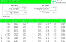 House Amortization Payment Calculator Home Loan Excel Template