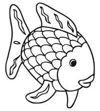 Rainbow Fish Coloring Pages Preschoolers Coloring Pages For