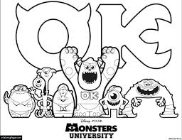 coloring pages monsters inc monsters university all characters coloring sheet for kids monsters inc coloring pages