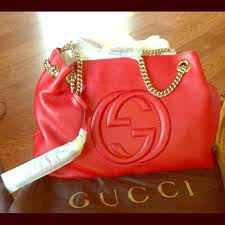 gucci bags red. ***sold***gucci red soho leather shoulder bag gucci bags