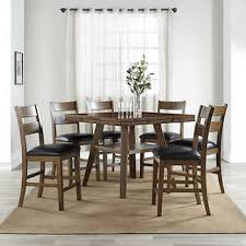 Kitchen table set Round Dillon 7piece Counterheight Square To Round Dining Set Costco Wholesale Dining Sets Costco