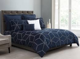 corvo jacquard geometric lattice pattern comforter set navy