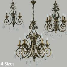 l2 1817 antique brass crystal chandelier range from