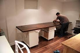 office desk diy. diy home office desk builtin using ikea butcher block and depot e