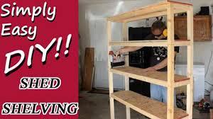 diy shed shelves and organization