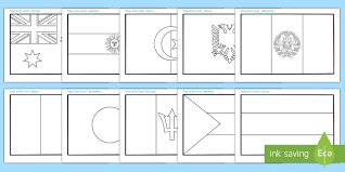 Free Flags Of The World Colouring Sheets Flag Country Countries