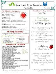 february newsletter template learn and grow designs website february preschool newsletter