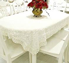 white lace tablecloth dining room living dust proof cover cloth rectangular or round table covers a