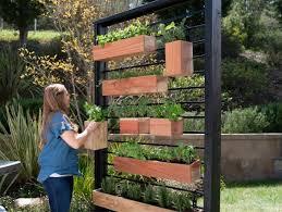 vertical herb garden from a fence