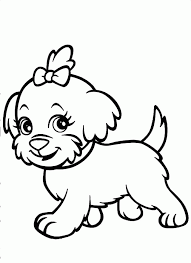Small Picture Of Funny Running Shaggy Dog For Coloring Book Or Dog Color Sheets