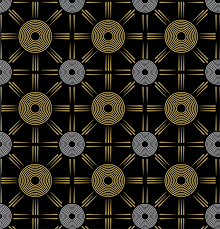 Silver Patterns Adorable Black Gold Silver Patterns On Behance