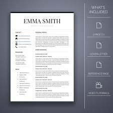 Microsoft Word Professional Letter Template Fascinating Resume Template Four 48 Pages Cover Letter Microsoft Word Etsy