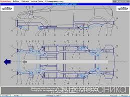 Компьютерная измерительная система геометрии кузова shark  База данных shark содержит подробные данные о контрольных точках авто