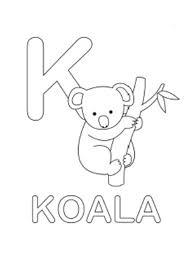 Small Picture Koala Coloring Sheet Koala Alphabet Coloring Pages Free Koala