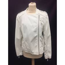 m s limited edition cream faux leather jacket size 14 m s marks spencer 14 cream casual