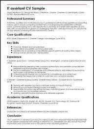 Curriculum Vitae Good Sample Simple Cv Writing Guides